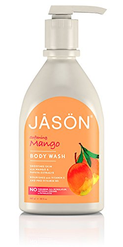 Jason Natural Products Gel douche naturel pour le corps sensation satin à la mangue et papaye, 887 ml