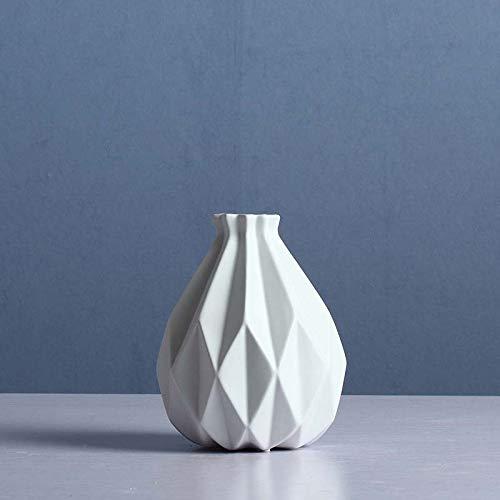 Fresh vase Ceramic VaseJane Moderno Jarrón De Cerámica Europea Decoración Salón Arreglo Floral Matte Creativo Rústico Blanco Decoración del Hogar