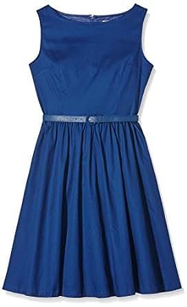 Lindy Bop Audrey Midnight Blue, Robe Femme, Bleu-Bleu, 38