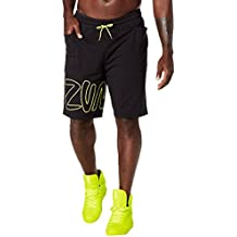 Zumba Fitness Never Stop Dancing pantalones cortos para hombre, Hombre, color Back to Black, tamaño FR : M (Taille Fabricant : M)