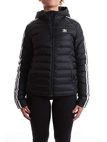 adidas Damen Slim Jacke,  Black, 42 (L)