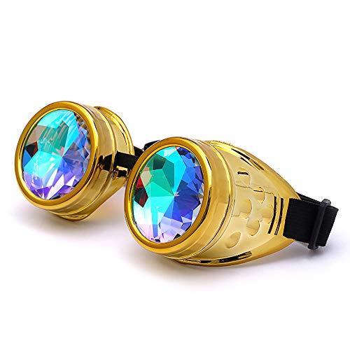 VRTUR Kaleidoscope Goggles Weinlese-Art Gotische Retro Steampunk Cosplay Brille Glasses Welding Punk...