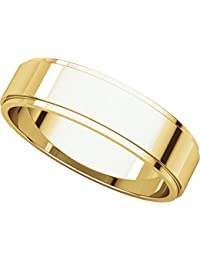 9ct Yellow Gold, Flat Edged Wedding Band 5MM (sz H to Z5)