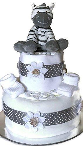 Neugeborene Unisex Baby Boy Girl Zebra Windeltorte Baby Dusche New Mum Geschenk