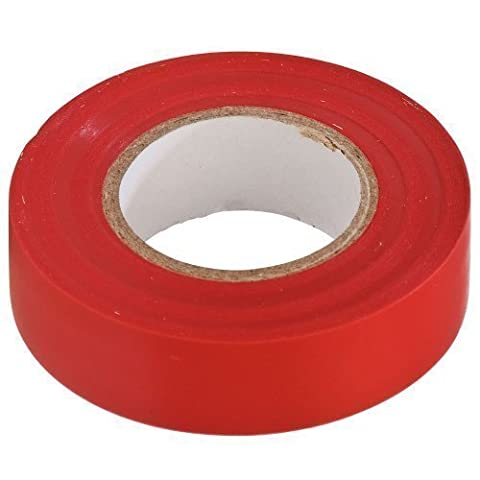 Toolzone PVC Electrical Electricians Insulation Adhesive Tape - Red