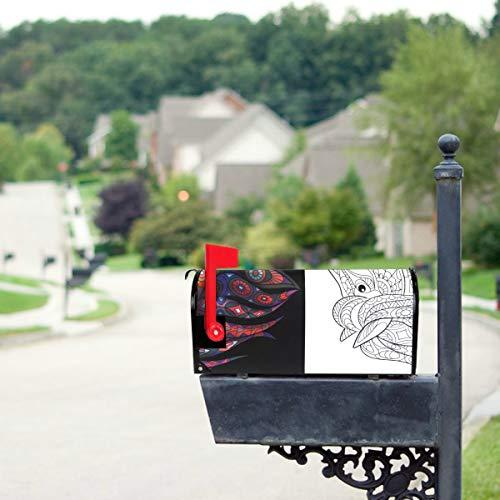 KAOROU Pferde galoppieren quer durch die Wiese Briefkastenabdeckungen Standardgröße Original Magnetic Mail Anschreiben Briefkasten 21