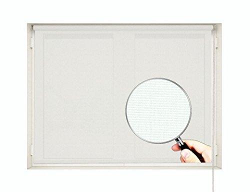 Estor Enrollable TÉRMICO Screen Premium (Desde 40 hasta 300cm de Ancho - Permite Paso de luz y Reducir la Temperatura). Color Blanco. Medida 240cm x 160cm para Ventanas y Puertas