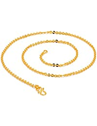 BFC-Traditional Ethnic One Gram Gold Plated 18 Inches Chain For Man,woman And Girls