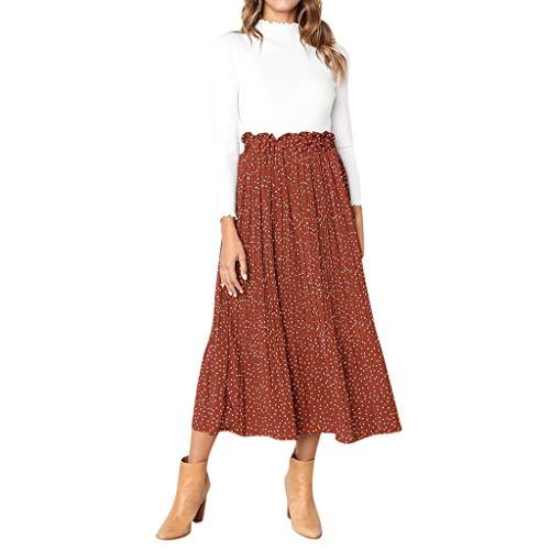 Hard Rock Cafe Pullover Lässiges Vintage-Kleid, Frauen in hoher Taille und langes Kleid Petticoat Weihnachten Kleid der Frauen