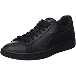 Puma Smash V2 Leather, Baskets de Cross mixte adulte - Noir (Puma Black), 44 EU (9.5 UK)