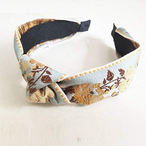 EIUTEH Handgemachte Stickerei Boho Headbnad Haarband Haarband Bögen Blume Krone Stirnbänder Frauen Für Haarschmuck -