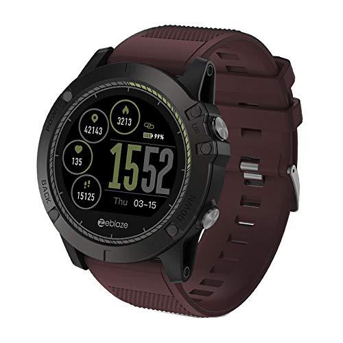 LRWEY Fitness Smart Watch, IP67 Wasserdichter Herzfrequenzmonitor Beschleunigungsmesser Pedometer Frauen Und Männer Smart Watch, für iOS Android