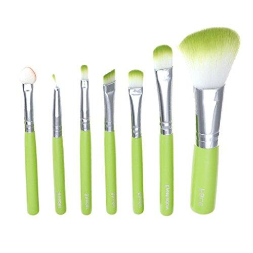 Internet 7 Pcs maquillage professionnel couleur Brush vert