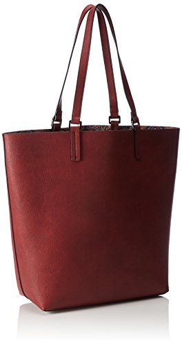 ESPRIT Damen mit Praktischem Innenleben Shopper, 31x39x14 cm Rot (DARK RED 610)