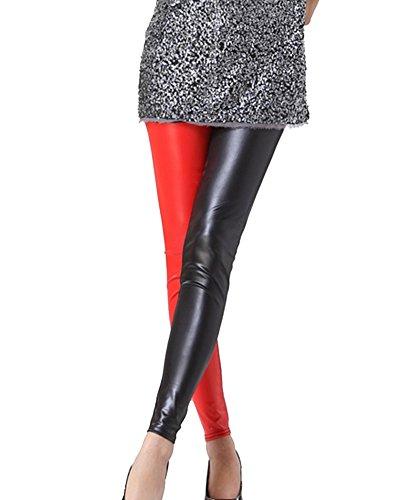Gladiolus Mujer Pantalón Símil Cuero Pantalone De Cintura Alta...