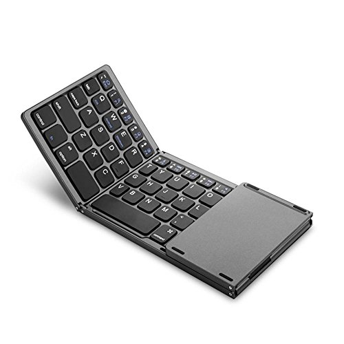 Plegable Bluetooth Teclado Con TouchPad