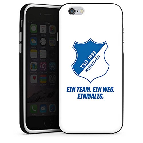 Apple iPhone 5c Hülle Case Handyhülle TSG Hoffenheim Fanartikel Fussball Silikon Case schwarz / weiß