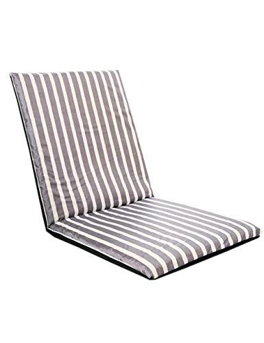 KRUIHAN Gemütlich Chaise Lounge Faules Sofa - Falten Einstellbar Entspannend Sitz Polster Balkon Fußboden Stuhl Zusammenklappbar Person Bett Matte Streifen (Chaise Lounge-sofa-bett)