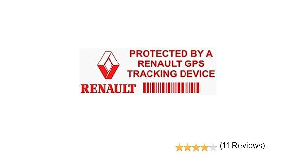 Van allarme Tracker 5/x Pprenaultgpsred GPS rosso dispositivo di tracciamento finestra adesivi 87 x