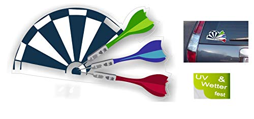 Generisch Dart Aufkleber Darts Aufkleber Dartpfeil Auto Aufkleber Club Sticker (R24/3) (15x11cm)