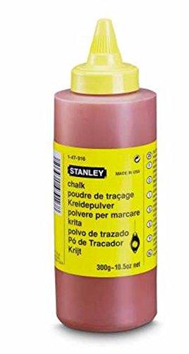 Stanley Schlagschnurkreide 115g, Farbe rot, gut haftend, sehr wasserfest, schwer löslich, in Kunststoffdose, 1-47-404