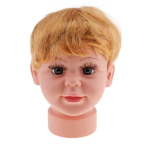 B Blesiya Baby Kind Schaufensterpuppe Kopf Dekokopf Modellkopf Kinder Brillen Hüte Mütze...