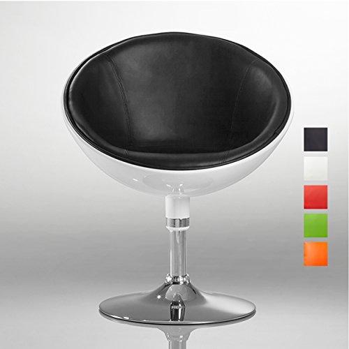 Duhome Elegant Lifestyle Lounge Sessel Weiß-Schwarz Kunstleder-Kunststoff Mix Clubsessel...