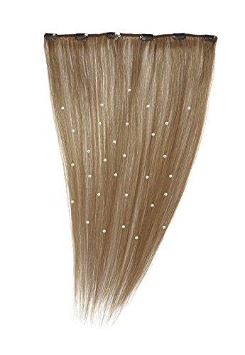 American Dream - A19/QFC12/18/27S - 100 % Cheveux Naturels - Pièce Unique Extensions Cristallisées à Clipper - Couleur 27S - Blond Fraise Léger - 46 cm