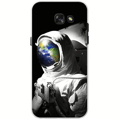 Astronautenanzug & Spiegelbild der Erde Hartschalenhülle Telefonhülle zum Aufstecken für Samsung Galaxy A3 (2017), A320F
