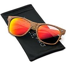 Lente reflectante Revo color de impresión de madera sintética cuerno con borde gafas de sol Rj1FNKDoB