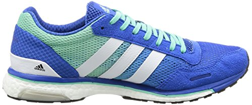 adidas Adizero Adios M, Scarpe da Corsa Uomo Blu (Blue/ftwr White/easy Green)