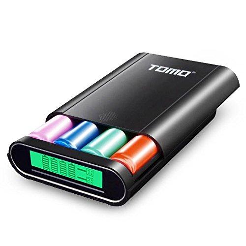 Global TOMO M4 LCD Display DIY Intelligente Schnelle USB 4x 18650 Li-Ion Batterie Ladegerät Fall & Tragbare Mobile Power Bank Bank-batterie