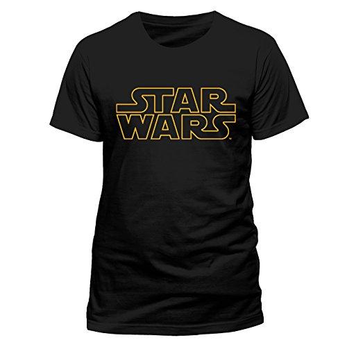 STAR WARS Logo Herren T-Shirt Offizielles Lizenzprodukt|schwarz-XL