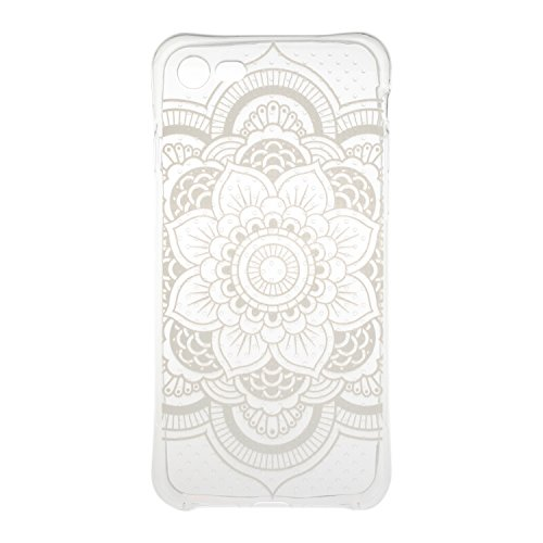 iPhone 7 hülle Case Cozy Hut Ultra Hybrid TPU Bumper for iPhone 7 Hülle Schutzhülle Shock Absorption Plating TPU Case Silicone Cover für iPhone 7 (4,7 Zoll) (2016) - Kleine Qualle Kaleidoskop