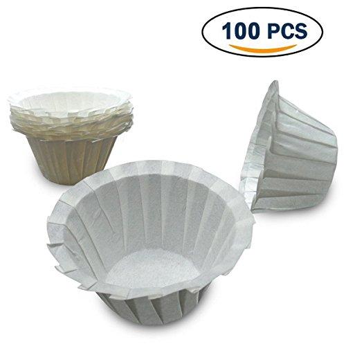 jiele 100Stück Kaffee Filter Papers Einweg Espresso Maschine Filter Tassen geeignet für Keurig Serie Kaffee Filter für servieren Kaffee, Tee, heiße und kalte Getränke