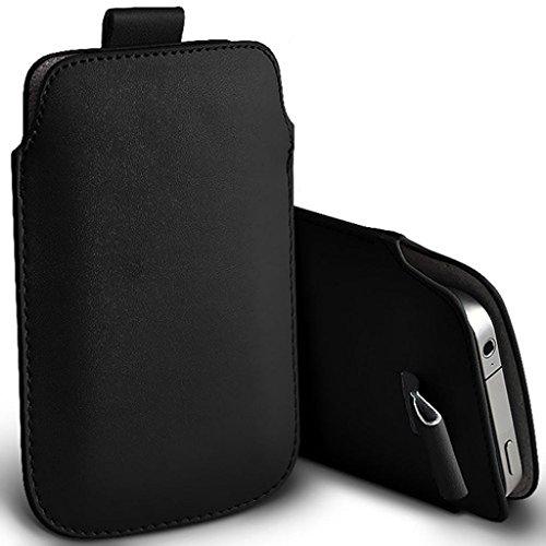 Fone-Case (Black) Huawei P8 Lite (2017) Qualität PU-Leder Pull Tab Stilvolle Einbau Beutel Hülle