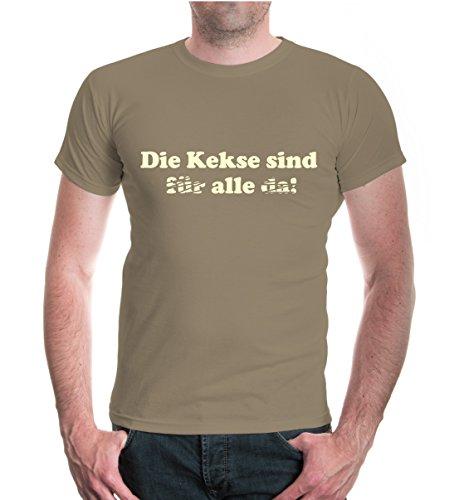 buXsbaum® T-Shirt Die Kekse sind alle Khaki-Beige