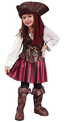 Mädchen Piraten Für Kleinkind Kostüm - Zückersüßes Piraten-Kostüm für Mädchen Gr. 104 - 3 bis 4 Jahre Kinderkostüm Seeräuber