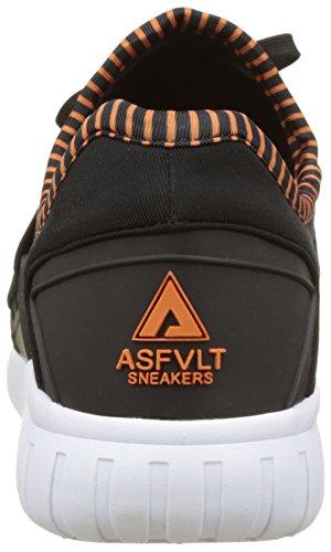 Asfvlt Unisex-Erwachsene Area Lo Sneaker Noir (Black Nectarine)