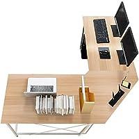 sogesfurniture Computertisch Eckschreibtisch in L-Form, großer Gaming Schreibtisch PC Tisch Winkelkombination…