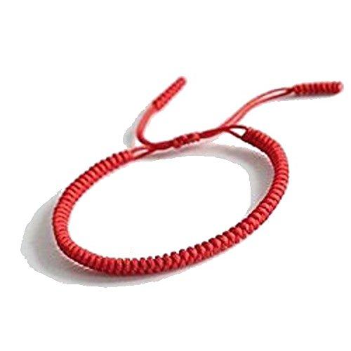 Tibetisch-Buddhistischen Handgemachten Seilknoten (Rot) (Armbänder Rot)