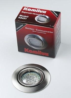 5 x LED Einbauleuchte Einbauspot Einbaustrahler Bajo 230V edelstahl-gebürstet inkl. Fassung GU10 u. LED Leuchtmittel 20er Warmweiss von Kamilux GmbH - Lampenhans.de