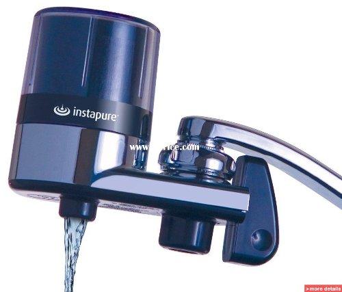 Startseite Wasserhahn Filter Luftreiniger Wasser INSTAPURE F2Essentials, reduziert das Chlor, das schlechte Geschmack und Geruch, zertifiziert NSF chrom -