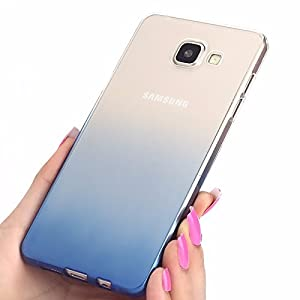 LOXXO Gradient Flexible Soft Gel TPU Silicone Skin Slim Back Cover for Samsung Galaxy S7 Edge(Blue)