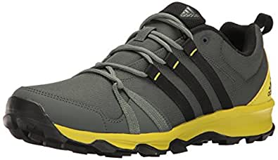 adidas Outdoor Men's Tracerocker Trail Runner, Utility Ivy/Black/Unity Lime, 15 M US