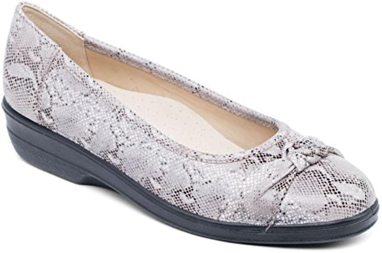 Padders mujeres cubren la Zapatilla de Ballet 'Fiona' | Anchura extra grande EE | talón de 30mm| Cuerno de zapato...