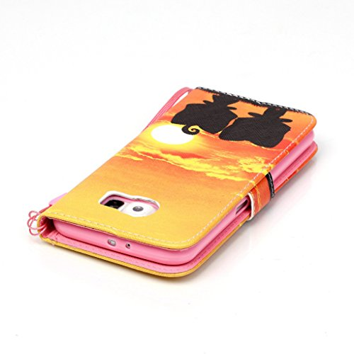 Trumpshop Smartphone Case Coque Housse Etui de Protection pour Samsung Galaxy S6 + This iPhone is Locked + Smartphonecoque Portefeuille PU Cuir Anti-Choc Lever du Soleil