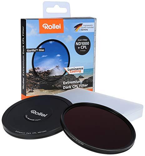 Rollei Rundfilter Extremium Dark CPL ND1000 Stopper 67 mm - 2 in 1 Filter aus Polarisationsfilter und neutralem Graufilter (Neutraldichtefilter) mit Titan-Ring - Gorilla Glas - ND1000 (10 Stopps/3,0)