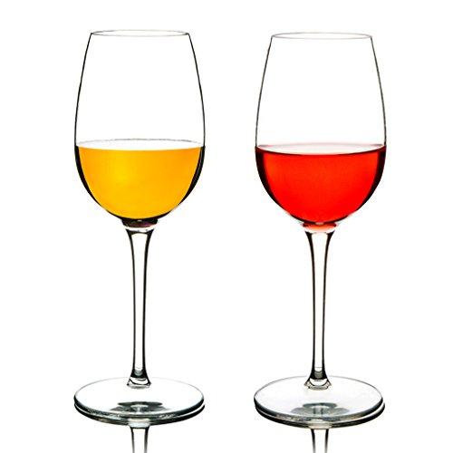 MICHLEY Unzerbrechliche Weingläser, 100% Tritan-Kunststoff bruchsicher Weinbecher, BPA-frei, Spülmaschinenfest 360ml, 2er Set