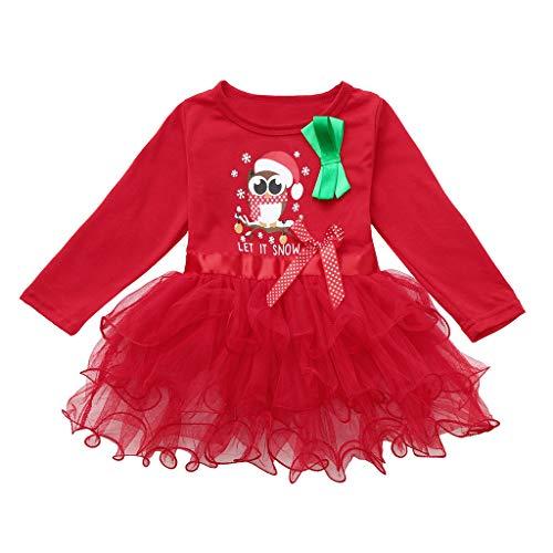 bestshope Kleinkind-Säuglingsbaby-Mädchen Weihnachten Xmas Karikatur-Prinzessin Tutu Dress Outfits